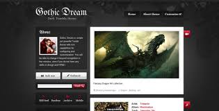 vintage tumblr themes free html gothicdream by dream theme themeforest