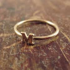custom initial rings initial ring letter ring initial jewelry stackable initial