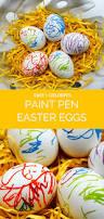 decorating easter eggs paint pen easter eggs easy kids craft merriment design