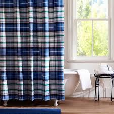 Check Shower Curtain Portsmith Plaid Shower Curtain Navy Pbteen Checkered 24 Best