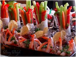 mini tasting party food salsa veggies and dips