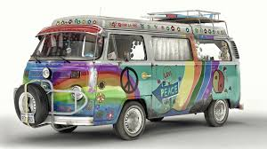 minivan volkswagen hippie artstation vw t2 hippie van artem yuldashev