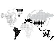 world map wall sticker black white minideco co uk