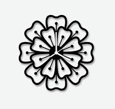 Minimalist Clock by Floral Clock Design Interior Design Ideas
