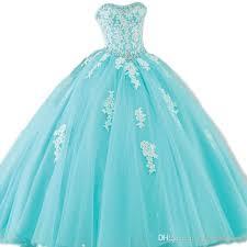 pictures of quinceanera dresses amazing aqua blue turquoise quinceanera dresses gown