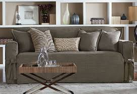 Surefit Sofa Slipcovers by Sure Fit Slipcovers Textured Tweed One Piece Slipcovers Sofa In