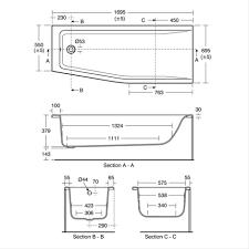 concept 170 x 70cm spacemaker rectangular baths bluebook 170cm bath