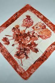 60s design 1950s 60s vintage scarf by balmain with ivory u0026 orange design