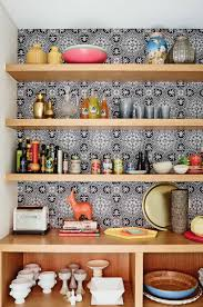 Kitchen Open Shelves Ideas by Cabinets U0026 Drawer Wallpaper Of Black And White Colors Also Wood