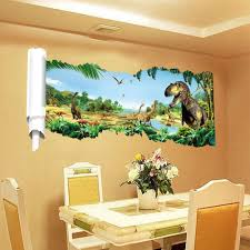 zooartsA jurassic world dinosaur scroll wall decals sticker for zooartsA jurassic world dinosaur scroll wall decals sticker for kids room decor zooarts amazon