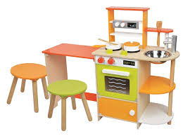 lelin wooden childrens 2 in 1 pretend play kitchen and dining room