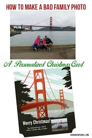 how to make personalized christmas cards with a bad family photo