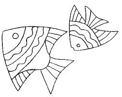 coloriage poissons poissons 1 à colorier allofamille
