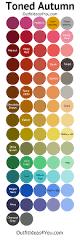 toned autumn color palette soft autumn autumn color palette