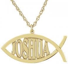 customizable jewelry alison christian fish name necklace 14x32mm customizable
