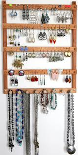 earrings necklace holder images Earring holder jewelry holder cherry wood wall mount with jpg