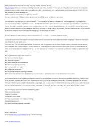 Plain Text Resumes Resume Makers Free Resume Example And Writing Download