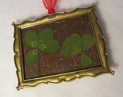 clover ornaments etsy