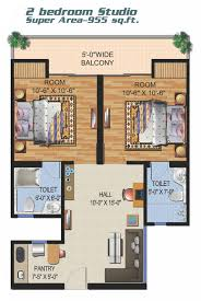 ajnara panorama yamuna expressway studio apartment 3600 sqft 2 bedroom studio apartment