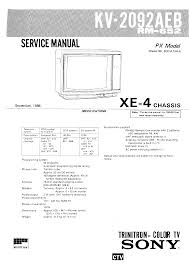 sony kv2092me2 service manual immediate download