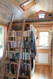tiny house with loft over living room patrick and april anson ladder loft
