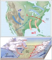 frontal boundary map weather regents earth science