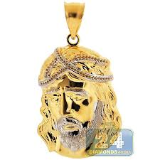 jesus cross gold necklace images 10k yellow white gold jesus christ face pendant 1 7 8 inches jpg