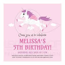 5th birthday party invitation cute unicorn birthday party invitation for girls jpg t u003d1431549021