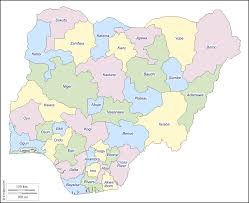 Nigeria Africa Map by Nigeria Free Map Free Blank Map Free Outline Map Free Base Map