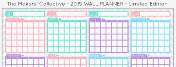 printable year planner 2015 au 2015 a2 wall planner for creatives pre order now