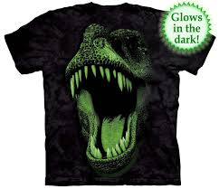 glow in the dinosaur shirt tees and apparel made of usa cotton