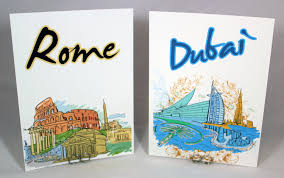 themed table numbers wedding table cards travel cities of the world color bellus