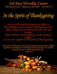 thanksgiving donation