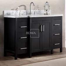 bathroom sink cabinets with marble top best black 48 inch 2 door 6 drawers bathrooms sink cupboard vanity