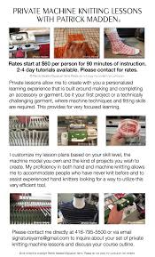 knitting machine lessons u2014 signature yarns