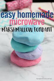 this easy microwave marshmallow fondant tastes so