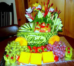 Fruit Decoration Ideas For Baby Shower Baby Fruit Basket Baby Shower Ideas