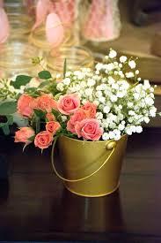 flower arrangements with lights flower centerpieces for birthday parties light pink mint green gold