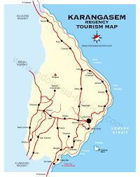 Map Of Bali Karangasem City Bali Map Bali Island Indonesia Tourism Maps