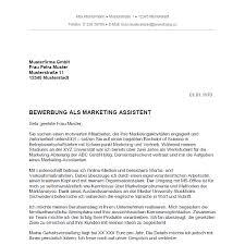 Bewerbungsschreiben Ferienjob Beispiel bewerbung als marketing assistent marketing assistentin bewerbung co