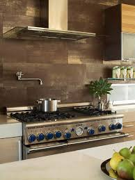 Kitchen With Brown Moroccan Tiles Backsplash Transitional Kitchen - Brown tile backsplash