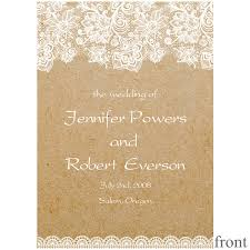 Country Wedding Programs Vintage Floral Lace Wedding Invitations Ewi270 As Low As 0 94