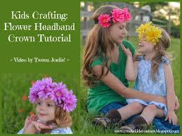 create kids couture kids crafting flower headband crown