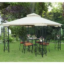 Covered Gazebos For Patios by Furniture Enjoy Your Leisure Time In Patio With Sunjoy Gazebo
