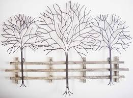 charming and durable metal tree wall robinson house decor