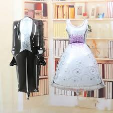 Wedding Decor Resale 2017 New The Bride And Groom Dress Aluminum Foil Balloon Foil