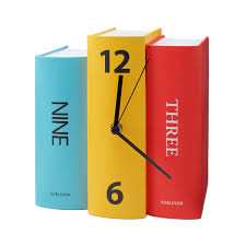 book clock book clock colorful home decor clever accents book clock 1 thumbnail