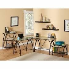 Mezza L Shaped Desk Black Glass L Shaped Desk Foter