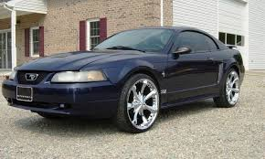 true blue 2001 ford mustang coupe mustangattitude com photo detail
