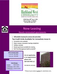 Cheap Apartments In Colorado Highland West Senior Citizen Apartments Senior Citizen Living In